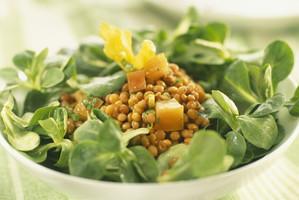 Salate im Eiscafe Süße Pause